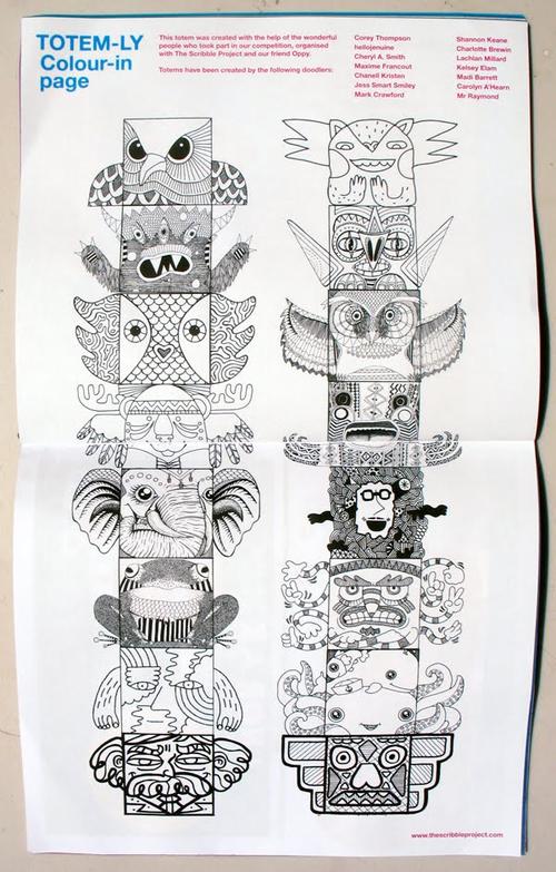Totem Pole Doodles PICDIT
